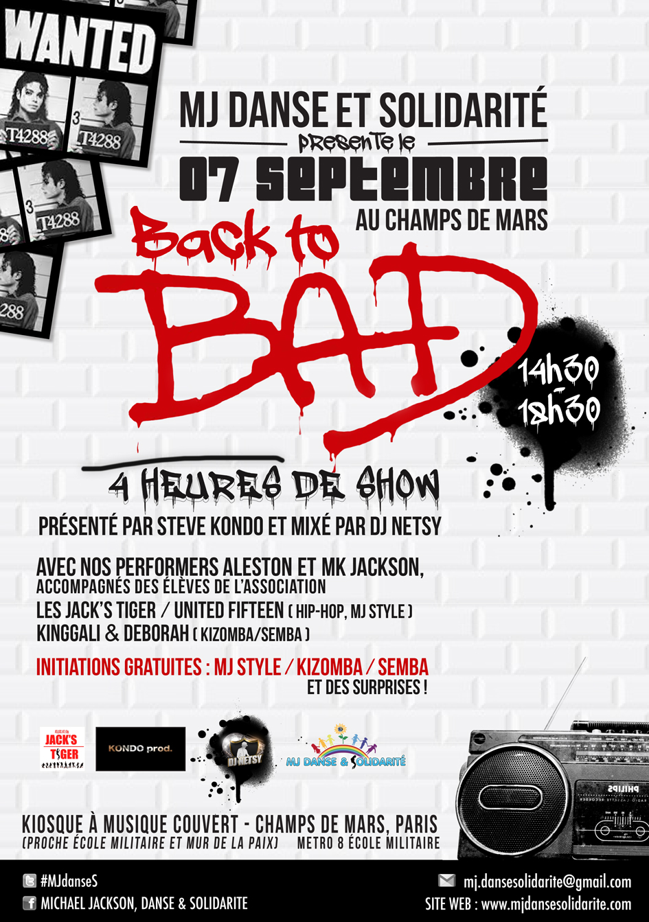 """Back to Bad"" au Champs de Mars : initiations de danse gratuites !"