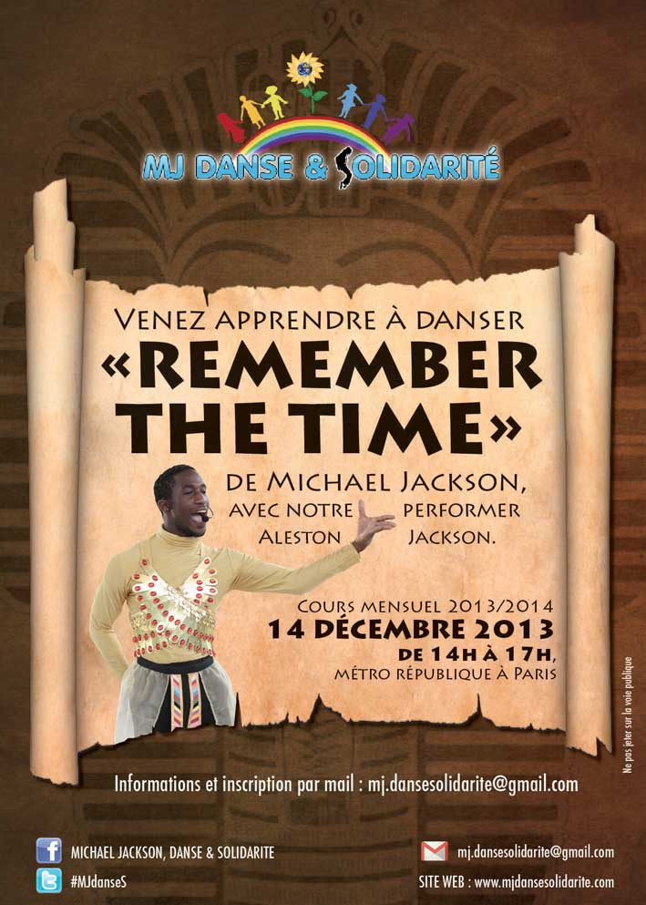 "Cours de danse sur ""Remember  the time"""
