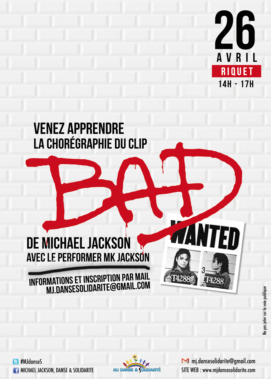 """Cours de danse sur """"Bad"""""""