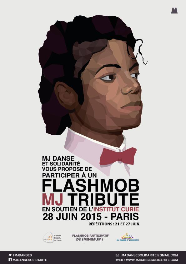 GROS FLASHMOB TRIBUTE TO MJ A PARIS EN SOUTIEN A L'INSTITUT CURIE