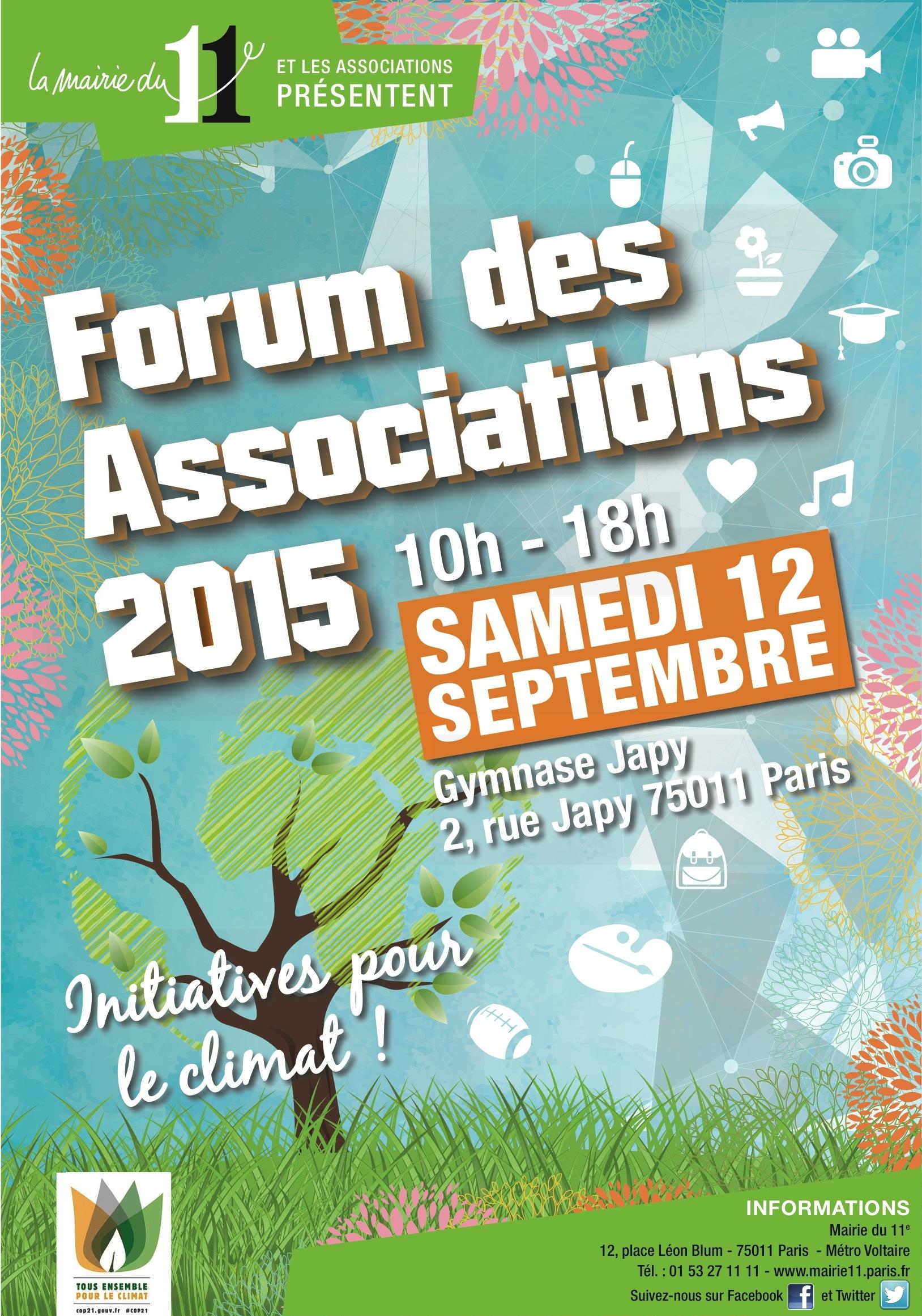 FORUM DES ASSOCIATION PARIS 11