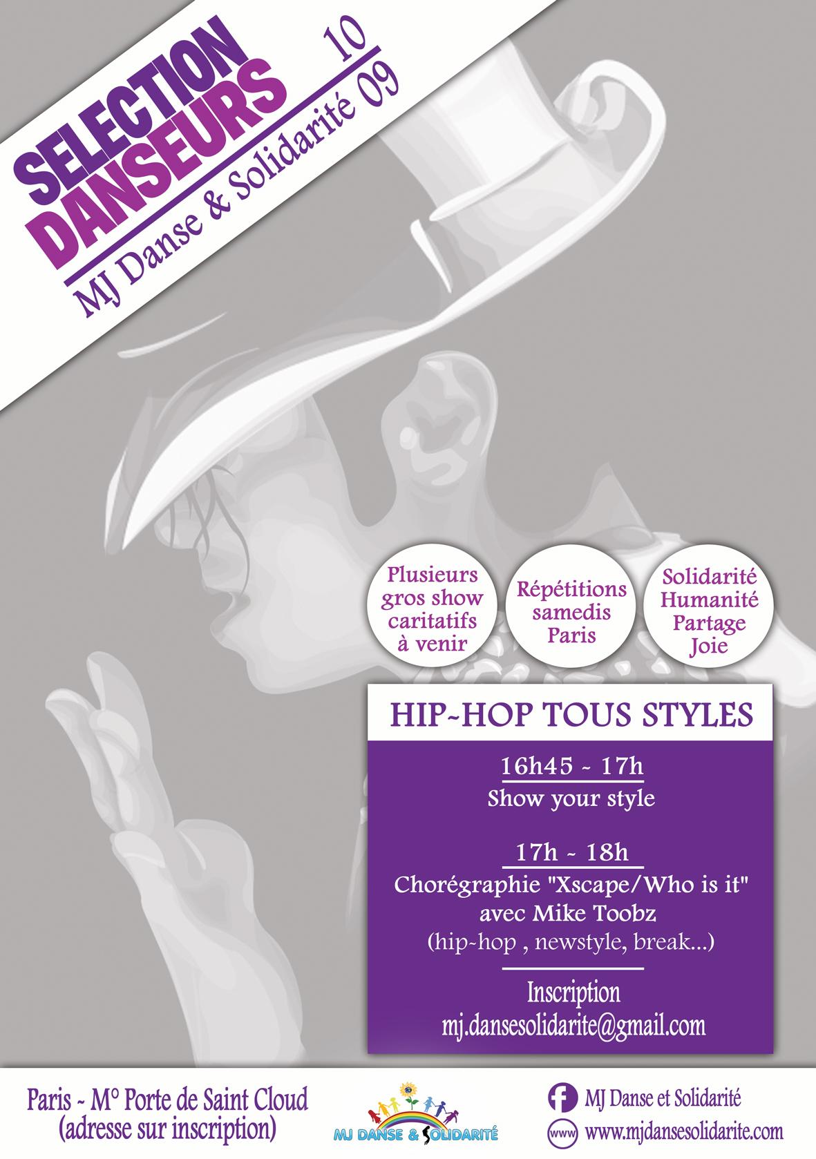 Sélection danseurs hip-hop