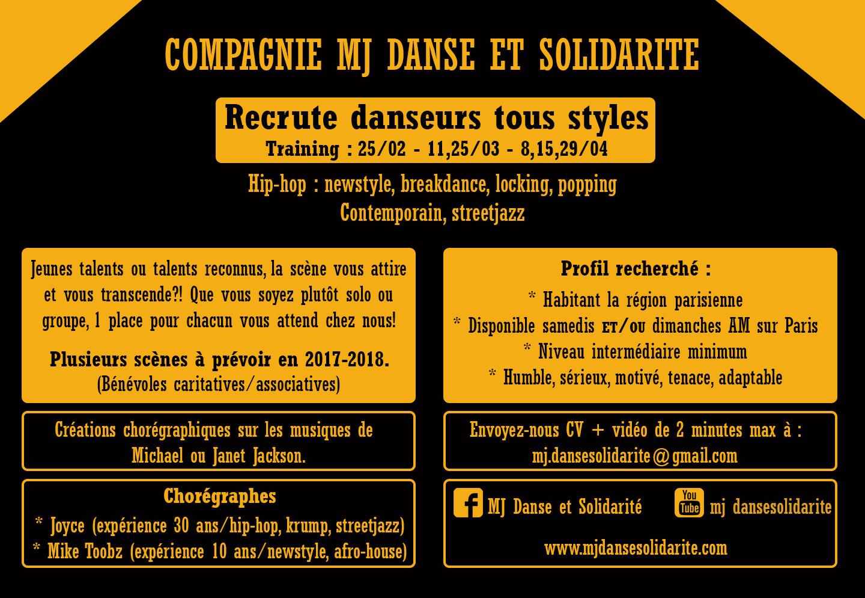 Recrutements danseurs